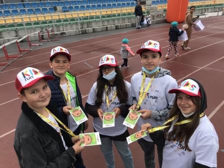 Wolontariusze na KIDSrun