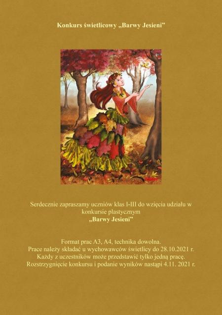 Konkurs plastyczny ''Barwy Jesieni''