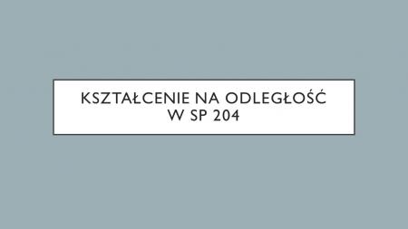 Kształcenie na odległość od 25.03.