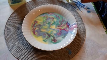 EKSPERYMENTALNA ŚWIETLICA-Kolorowe mleko