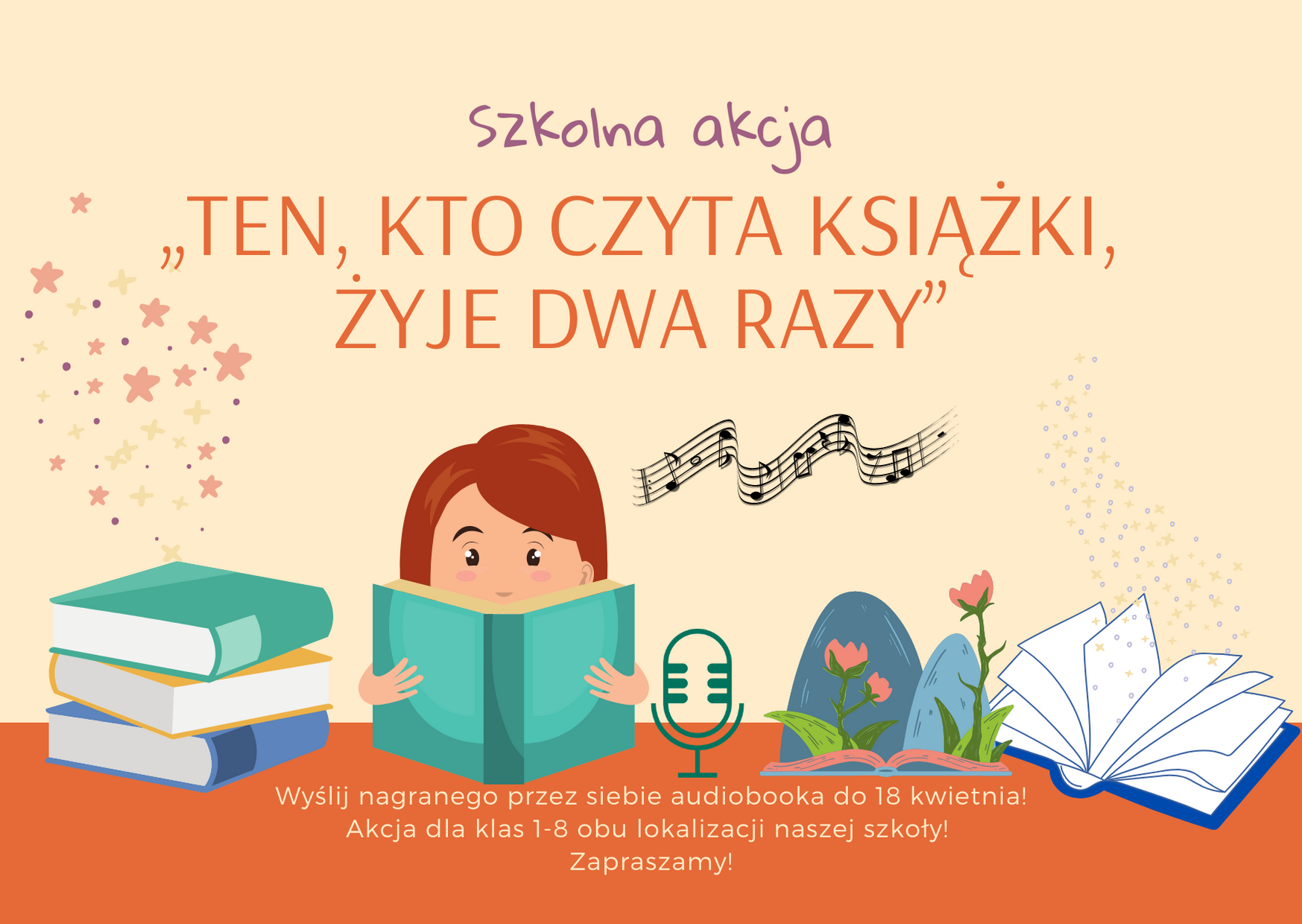 """I edycja szkolnej akcji """"Ten, kto czyta książki, żyje dwa razy"""""""