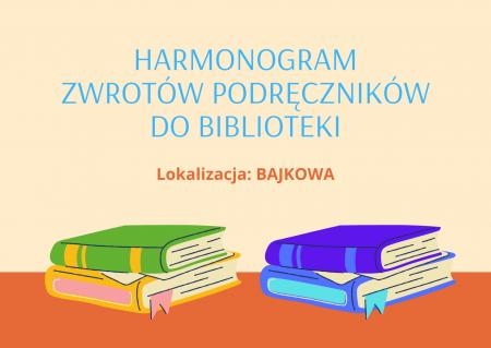 PROCEDURA I HARMONOGRAM zwrotu książek wypożyczonych z biblioteki w roku szko