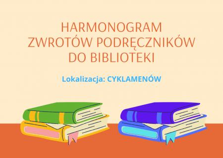 PROCEDURA  I HARMONOGRAM  zwrotu książek wypożyczonych z biblioteki  w roku s